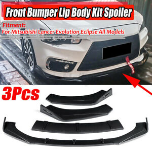 Carbon Fiber Look Front Bumper Lip For Mitsubishi Lancer EVO X Evolution Eclipse