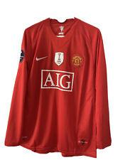 2008/09 Manchester United Nike Cristiano Ronaldo Red Long Sleeve Jersey X-Large