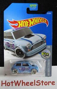 2017 Hot Wheels  Light Blue   MORRIS MINI       Card#231   HW-47-091018