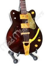 Miniature Guitar GEORGE HARRISON. The Beatles. brown gretsch