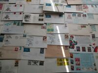50 DIFFERENT  FDC. AIRMAIL COVERS, U S and WORLD UNCHECKED
