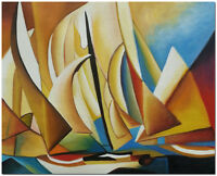 Yachts and Yachting - Hand Painted Charles Sheeler Oil Painting On Canvas Art