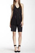 Robert Rodriguez Women's Black Flat Front Long Dress Shorts Size 2 2909