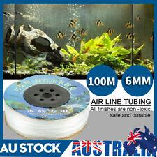 100m Silicone Tubing for Aquarium Fish Tank Hydroponics Tube Air Hose Line Pump