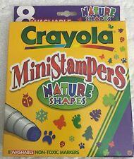 Vintage 1997 Crayola MiniStampers Nature Shapes Markers Nib Sealed