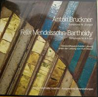Bruckner Symphony NR.3 Mendelssohn-Bartholdy NR.4 Kurt Masur Do-Lp Foc (c650)