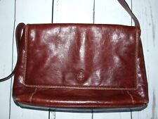 GIUDI Italy Vintage Brown Leather Shoulder Bag Handbag