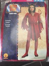 NEW GIRLS HALLOWEEN COSTUME RED DEVIL GIRL DRESS SIZE SMALL (4-6) RUBIES