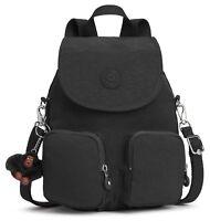 kipling Basic Eyes Wide Open Firefly Up Small Backpack True Black Schwarz Neu