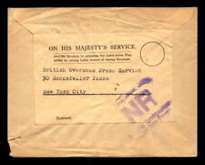 1943 British Army Signals Censor Cover to Nyc - L5394
