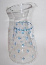 """PYREX """"BLUE GARLAND"""" GLASS CARAFE/PITCHER"""