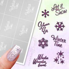 Schablonen für Airbrush und Nailart SET102 Winter Schnee Snow Schneeflocke Eis