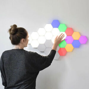 LED Magnetic Modular Quantum Hexagonal Wall lamp Touch Sensitive Night Lighting