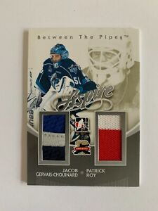 2011-12 Between The Pipes Aspire Jerseys Silver Gervais-Chouinard & Patrick Roy