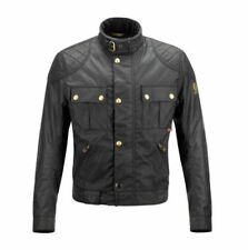 Blousons noirs coton ciré pour motocyclette Homme
