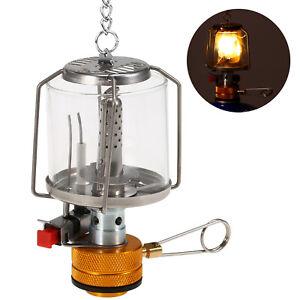 Outdoor Tragbare Camping Gaslaterne Piezo Ignition Mini Gas Zelt Lampe Licht DE
