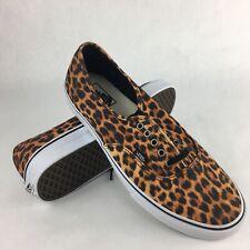 Vans Authentic shoes Leopard Black Brown VN0QER69I black halfshoes Size 11.5