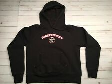 INDEPENDENT Truck Company Youth Skateboard Black Hoodie Sweater Size Medium