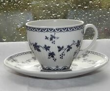 Royal Doulton China Yorktown Pattern TC1013 Blue Grapevine Coffee Cup & Saucer