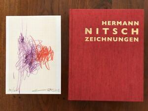 """HERMANN  NITSCH """"Zeichnungen"""" - Originalzeichnung in Vorzugsausgabe, SIGNIERT"""
