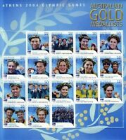 2004 ATHENS OLYMPIC GOLD MEDALLISTS STAMP SHEETLETS