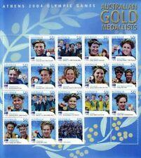 2004 ATHENS OLYMPIC GOLD MEDALLISTS STAMP SHEETLETS