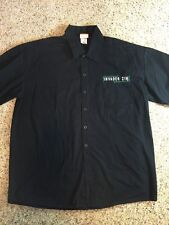 Invader Zim Shop Shirt Nickelodeon Button Front Short Sleeve Mens XL Black KD7