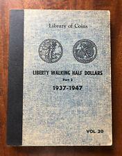 VINTAGE LIBRARY of COINS WALKER HALF DOLLARS ALBUM part 2, vol. 20 - NO COINS