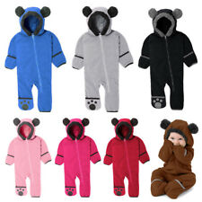 Children's Kids Romper Clothes Clothing Long Foot Sleeve Climbing Leotard Hooded