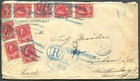 "CANADA ""ADMIRAL"" FOREIGN DESTINATION REGISTERED COVER TO GRUMBACH, GERMANY"