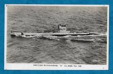 """WWII ERA RP PC BRITISH SUBMARINE """"H"""" CLASS NO. 32"""