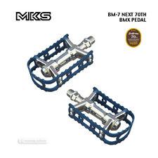 "New MKS BM-7 NEXT 70TH Anniversary BMX Platform Bicycle Pedals 9/16"" : BLUE"
