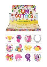 72 Pony Temporary Tattoos (6 Bags Of 12) - Horse Pinata Loot/Party Bag Fillers