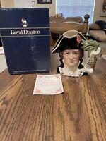 Royal Doulton Character Jug Captain Bligh D6967 1995 Large Mug w COA And Box