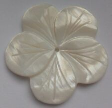 Natural Carved Shell Bead, Floral Motif, 35 mm. Jewellery Making/Crafts/Sew/Bead