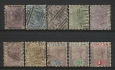 Sierra Leone Collection 10 QV Stamps Mostly Used