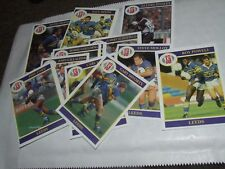 13 X LEEDS  MERLIN Rugby League Cards 1990's