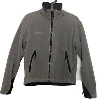 COLUMBIA Titanium Women's Full Zip Fleece Jacket  Gray Size M