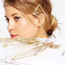 Elegant Metal Pearl Hair Pin Barrette Clip Side Hairpin High Quality Hair Tools