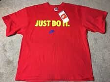 "New With Tag Nike Vintage Grey Tag 90s ""Just Do It"" T Shirt Tee Size Large 41-43"