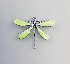 01293 emaillierte Brosche Libelle 925er Silber