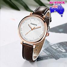 Wholesale Brown Leather Steel White Dial Quartz Watch Women Lady Wrist Watch