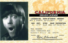 Moe Howard of The Three Stooges novelty collectors fake Id card Drivers License