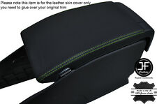 GREEN STITCHING ARMREST LID LEATHER COVER FITS VOLVO V70 2007-2011