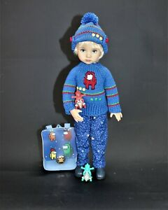"""Among Us Boy Outfit + shoes for Little Darling, Dianna Effner 13"""""""