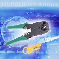 RJ45 RJ11 RJ12 CAT5 LAN Netzwerk Werkzeugkit Kabel Tester Crimp Crimper Zange~