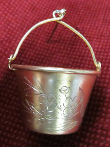 USSR RUSSIA TEA STRAINER GILDING ENGRAVED SILVER 875 MOSKWA 1953 - 5