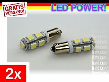 2x High Power BA9S LED 9SMD 5050 Standlicht Rücklicht Leuchte Birne WEISS L252