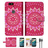 Hot Pink AZTEC TRIBAL Wallet Case Cover For Google Pixel-- A004