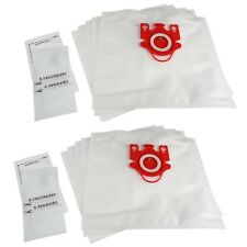 10 x FJM Type Vacuum Dust Bags + Filters For Miele S714-1 S716 S716-1 S717 S718